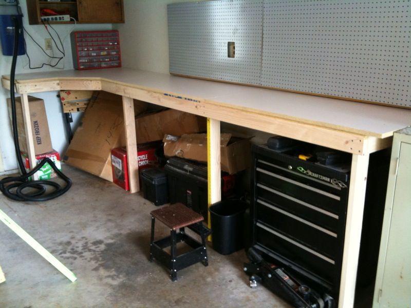 Сделай сам своими руками верстак в гараж 627